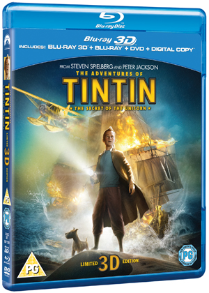 The Adventures of Tintin: The Secret of the Unicorn (2011) (Blu-ray) (3D Edition + 2D Edition + DVD + Digital Copy) (Retail Only