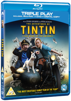 The Adventures of Tintin: The Secret of the Unicorn (2011) (Blu-ray) (+ DVD and Digital Copy - Triple Play) (Deleted)