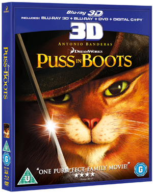 Puss in Boots (2011) (Blu-ray) (3D Edition + 2D Edition + DVD + Digital Copy) (Retail Only)