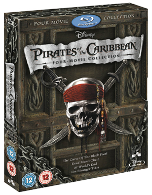 Pirates of the Caribbean 1-4 (2011) (Blu-ray) (Limited Edition) (Deleted)