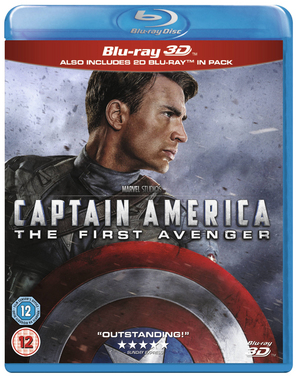 Captain America: The First Avenger (2011) (Blu-ray) (3D Edition with 2D Edition) (Retail / Rental)