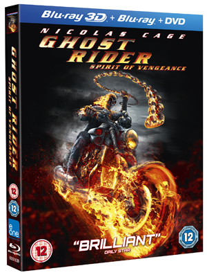 Ghost Rider: Spirit of Vengeance (2012) (Blu-ray) (3D Edition + 2D Edition + DVD - Triple Play) (Deleted)
