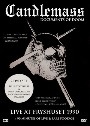 Candlemass: Documents of Doom/Live at Fryshuset (1990) (Retail / Rental)