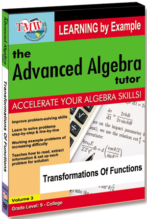 The Advanced Algebra Tutor: Transformations of Functions (2012) (Retail / Rental)
