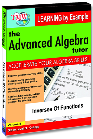 The Advanced Algebra Tutor: Inverses of Functions (2012) (Retail / Rental)