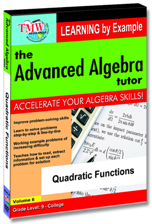 The Advanced Algebra Tutor: Quadratic Functions (2012) (Retail / Rental)