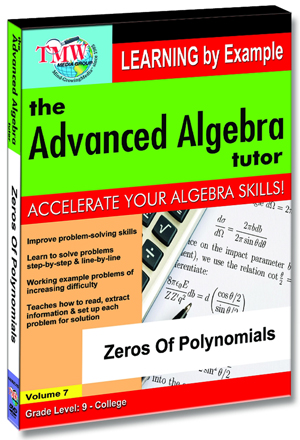 The Advanced Algebra Tutor: Zeros of Polynomials (2012) (Retail / Rental)