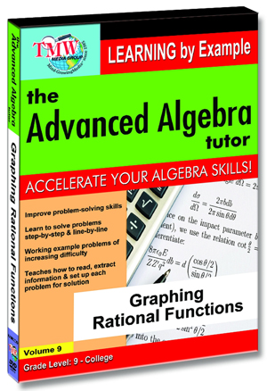 The Advanced Algebra Tutor: Graphing Rational Functions (2012) (Retail / Rental)
