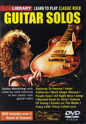 Lick Library: Learn to Play Classic Rock Guitar Solos (2012) (Retail Only)