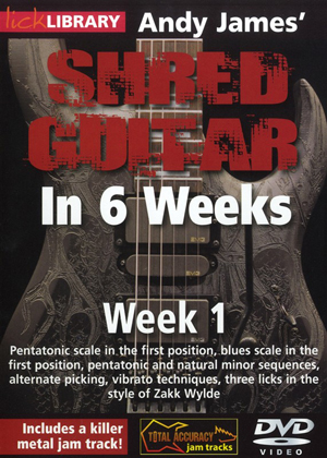 Andy James' Shred Guitar in 6 Weeks: Week 1 (2012) (Retail / Rental)