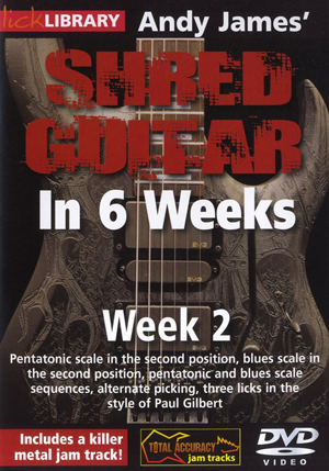 Andy James' Shred Guitar in 6 Weeks: Week 2 (2012) (Retail / Rental)