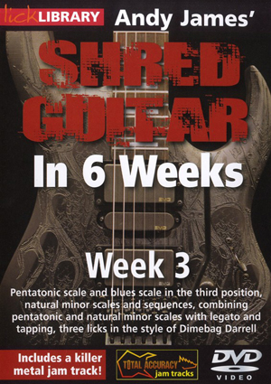 Andy James' Shred Guitar in 6 Weeks: Week 3 (2012) (Retail / Rental)