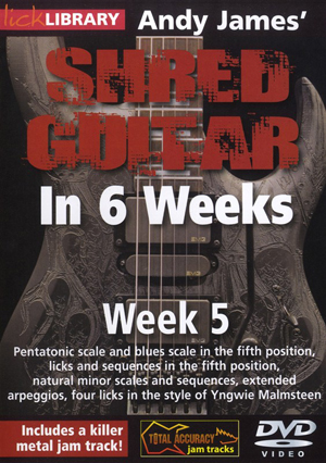 Andy James' Shred Guitar in 6 Weeks: Week 5 (2012) (Retail / Rental)