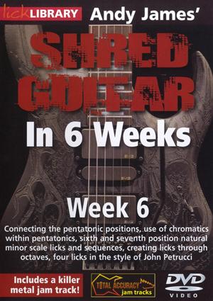 Andy James' Shred Guitar in 6 Weeks: Week 6 (2012) (Retail / Rental)