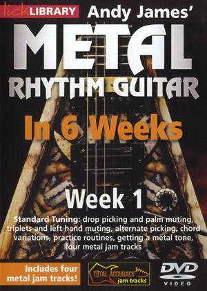Andy James' Metal Rhythm Guitar in 6 Weeks: Week 1 (2012) (Retail / Rental)