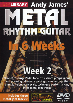 Andy James' Metal Rhythm Guitar in 6 Weeks: Week 2 (2012) (Retail / Rental)