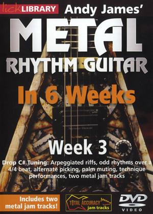 Andy James' Metal Rhythm Guitar in 6 Weeks: Week 3 (2012) (Retail / Rental)