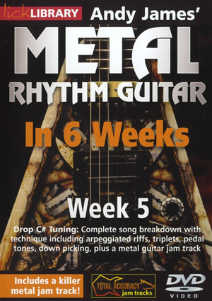 Andy James' Metal Rhythm Guitar in 6 Weeks: Week 5 (2012) (Retail / Rental)