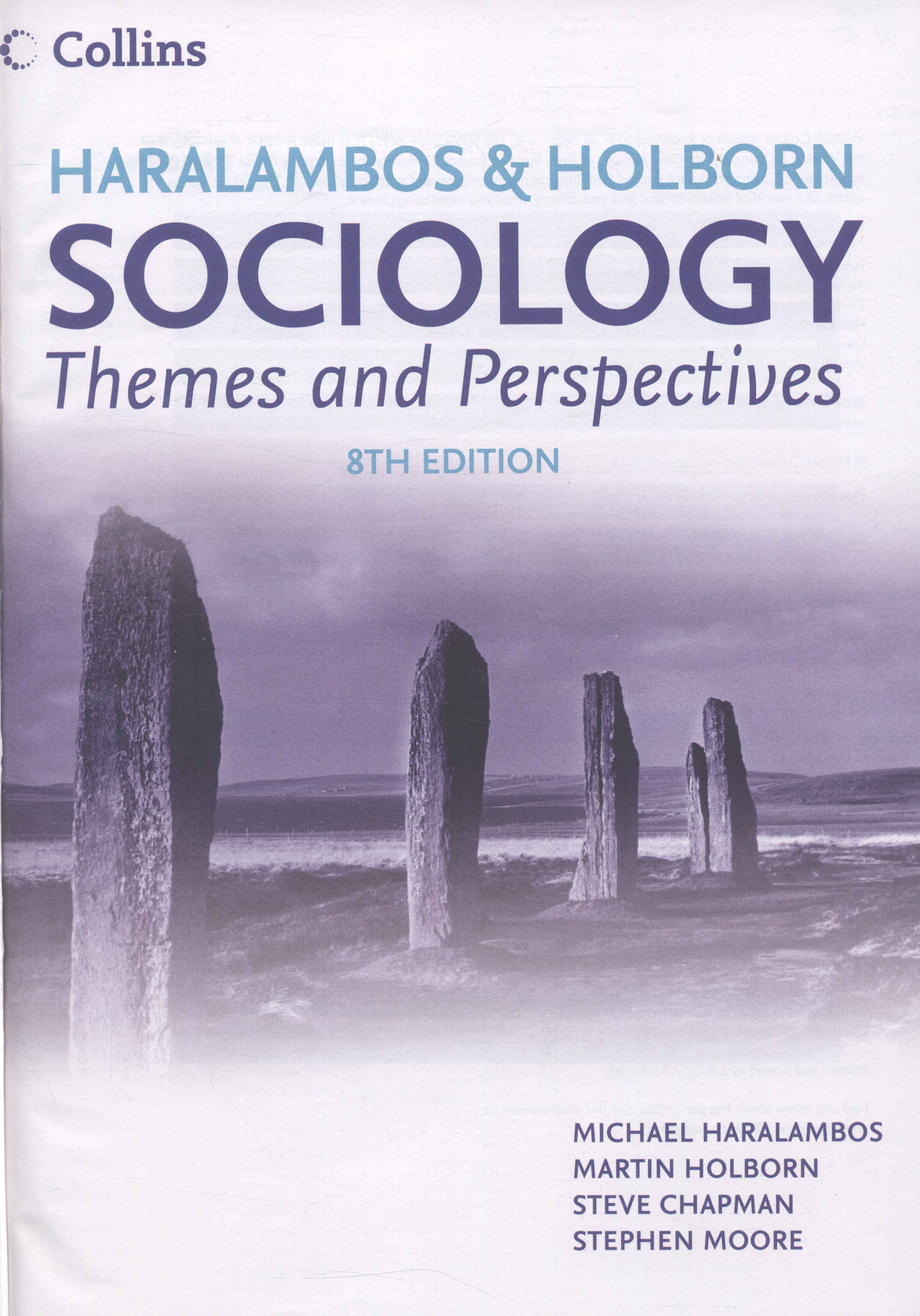haralambos and holborn Haralambos and holborn - sociology themes and perspectives has 95 ratings and 2 reviews dinakar said: gives you a better perspective on different strand.