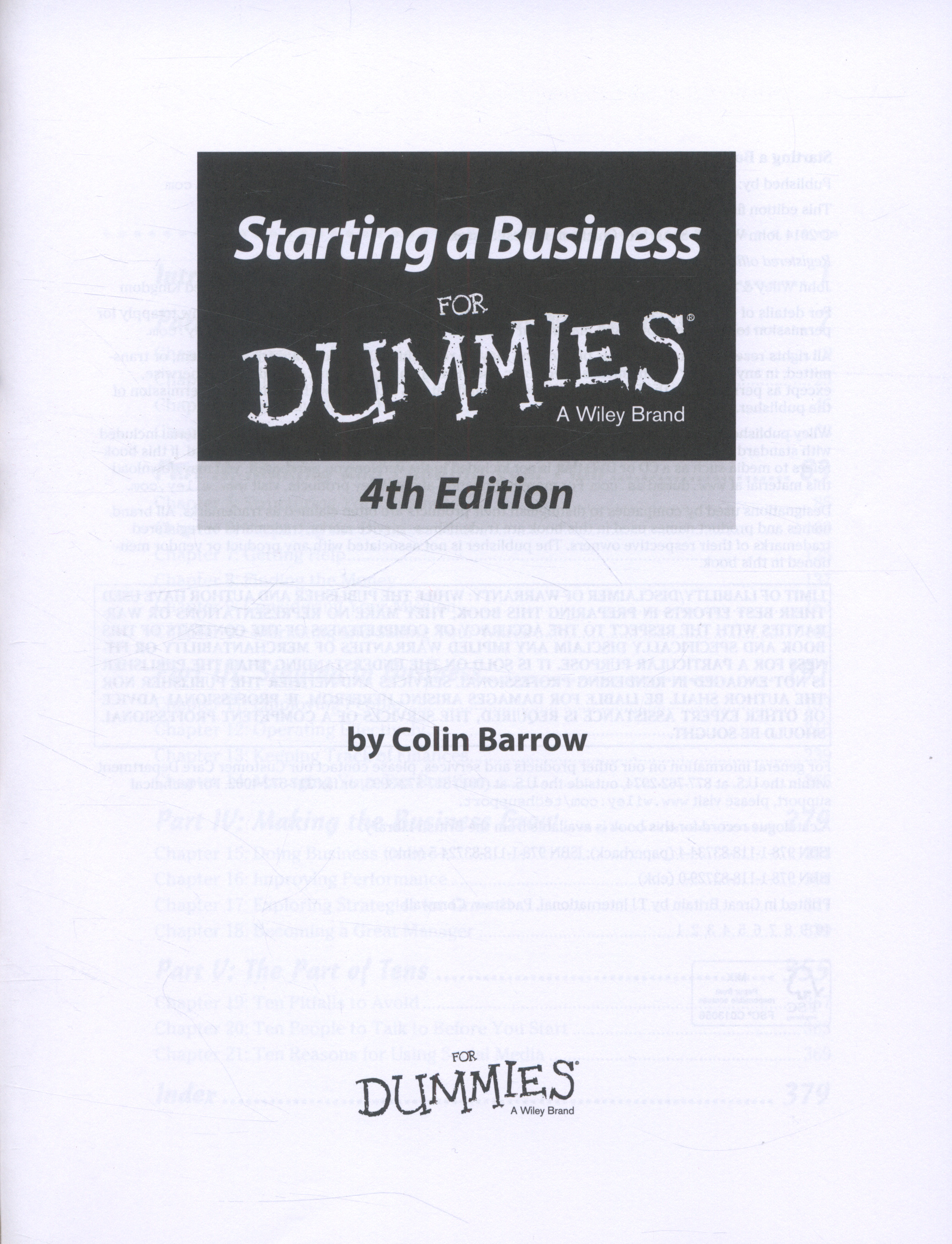 starting a business for dummies pdf