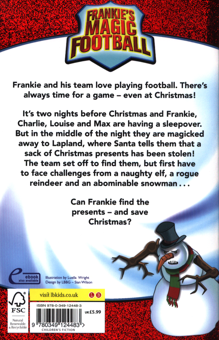 Frankie saves Christmas by LAMPARD, FRANK (9780349124483) | BrownsBfS