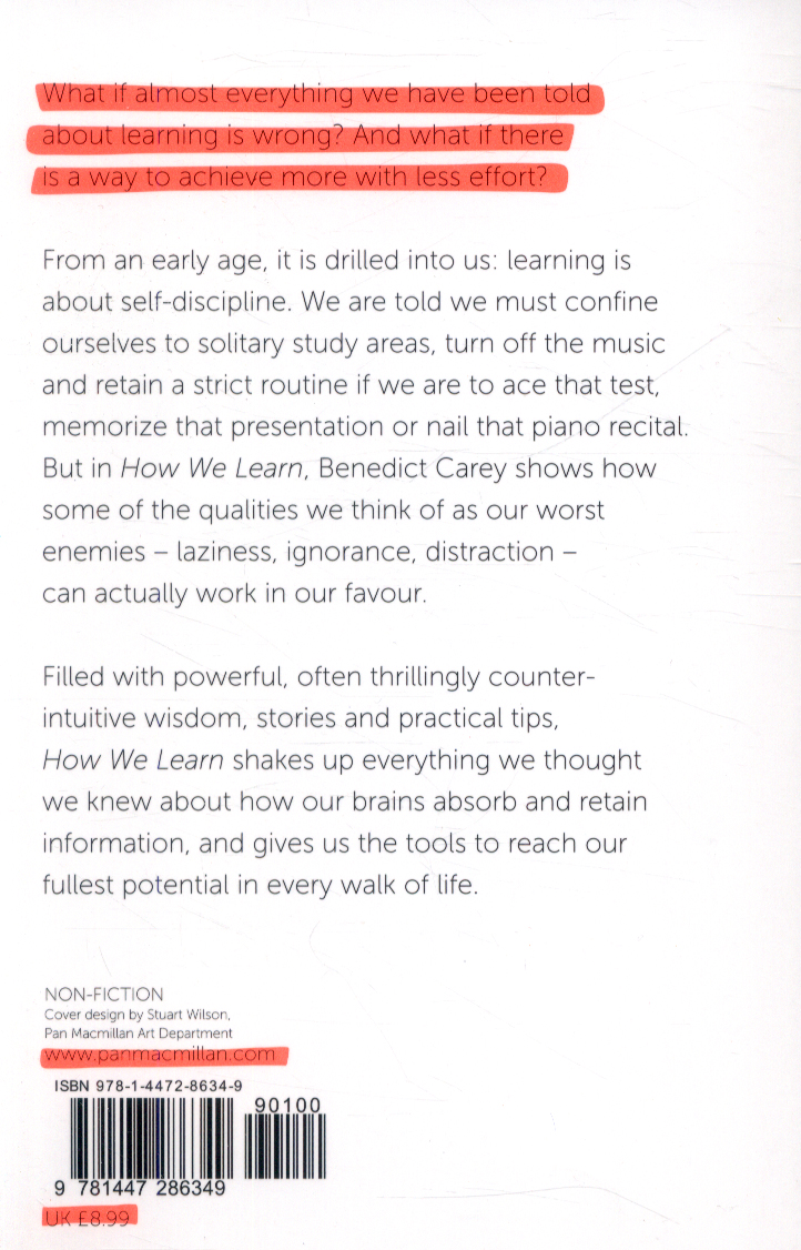How We Learn by Benedict Carey ePub Download - EBooksCart