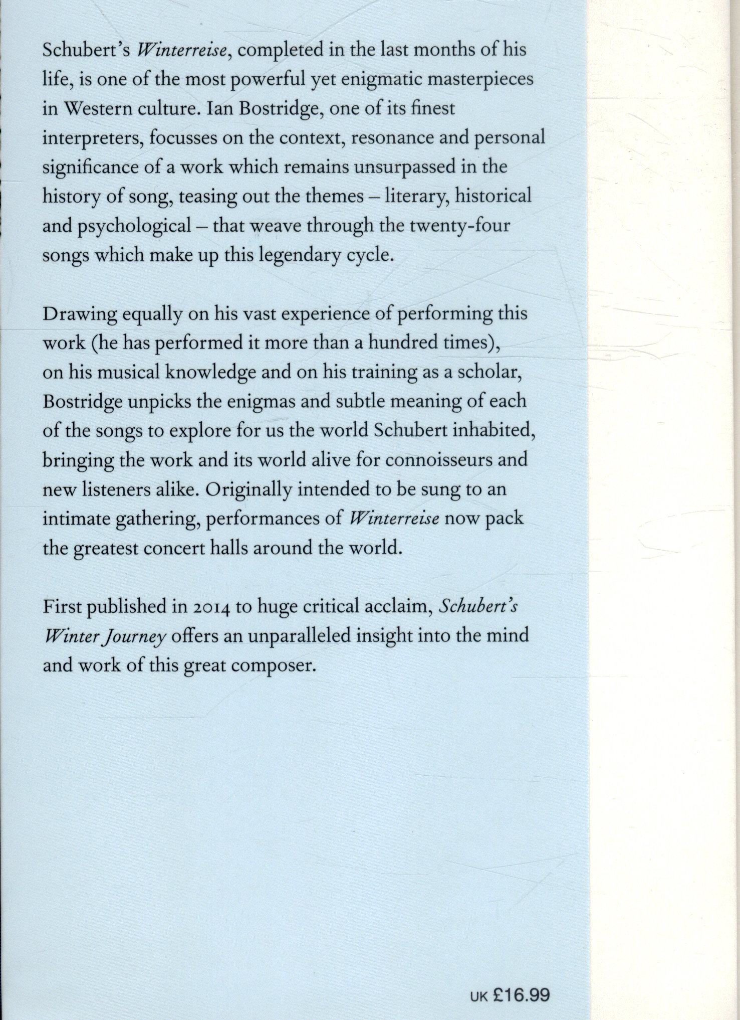 Schuberts Winter Journey Anatomy Of An Obsession By Bostridge