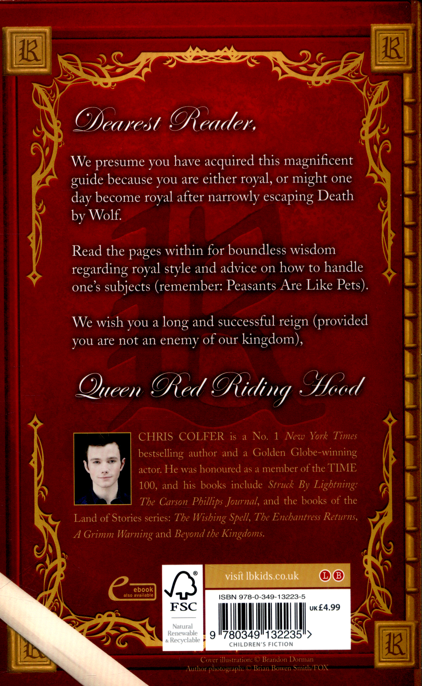 English In Italian: Queen Red Riding Hood's Guide To Royalty By Colfer, Chris