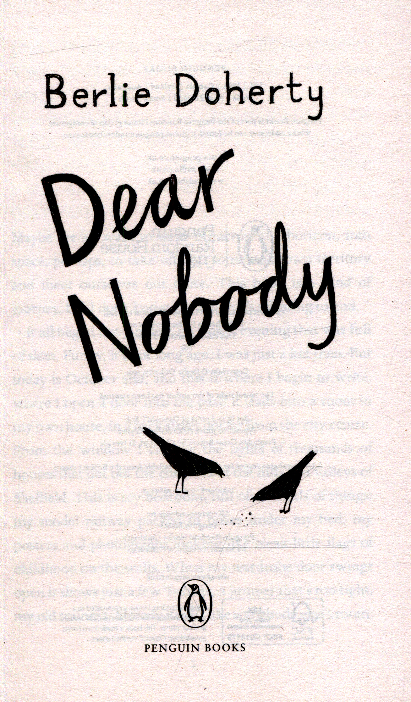 dear nobody by berlie doherty essay 1-16 of 50 results for dear nobody book dear nobody: the true diary of mary rose apr 5, 2016  by berlie doherty paperback $276 (8 used & new offers.