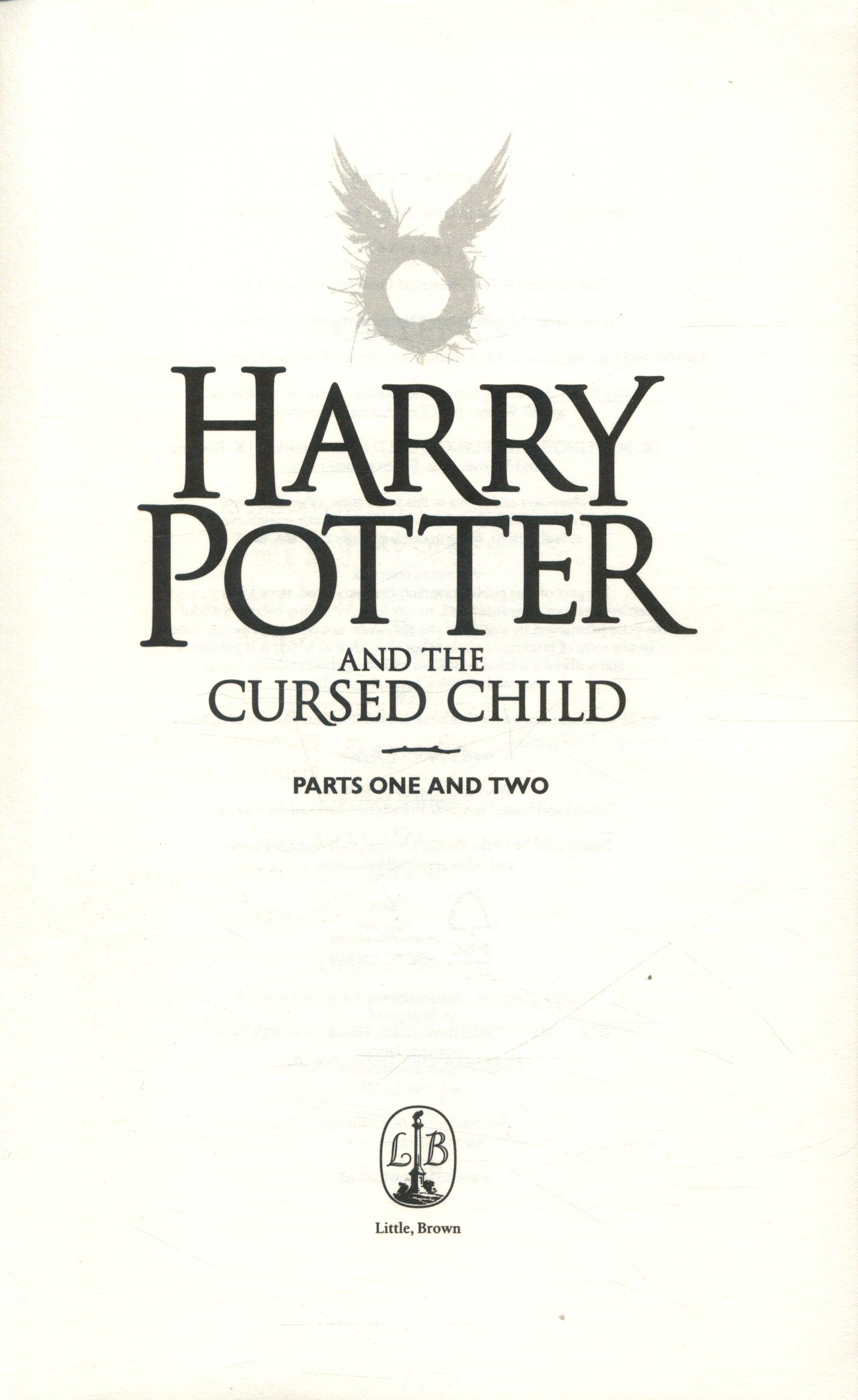 Harry Potter and the cursed child : parts one and two by ...