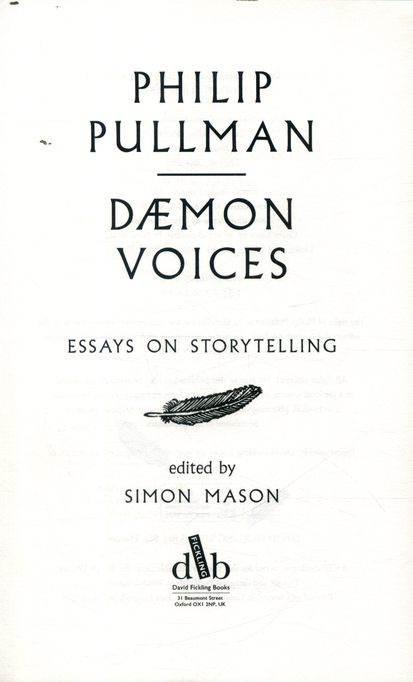 philip pullman essays Essay writing guide how philip pullman presents the characters within the novel for example looking at animal symbolism.