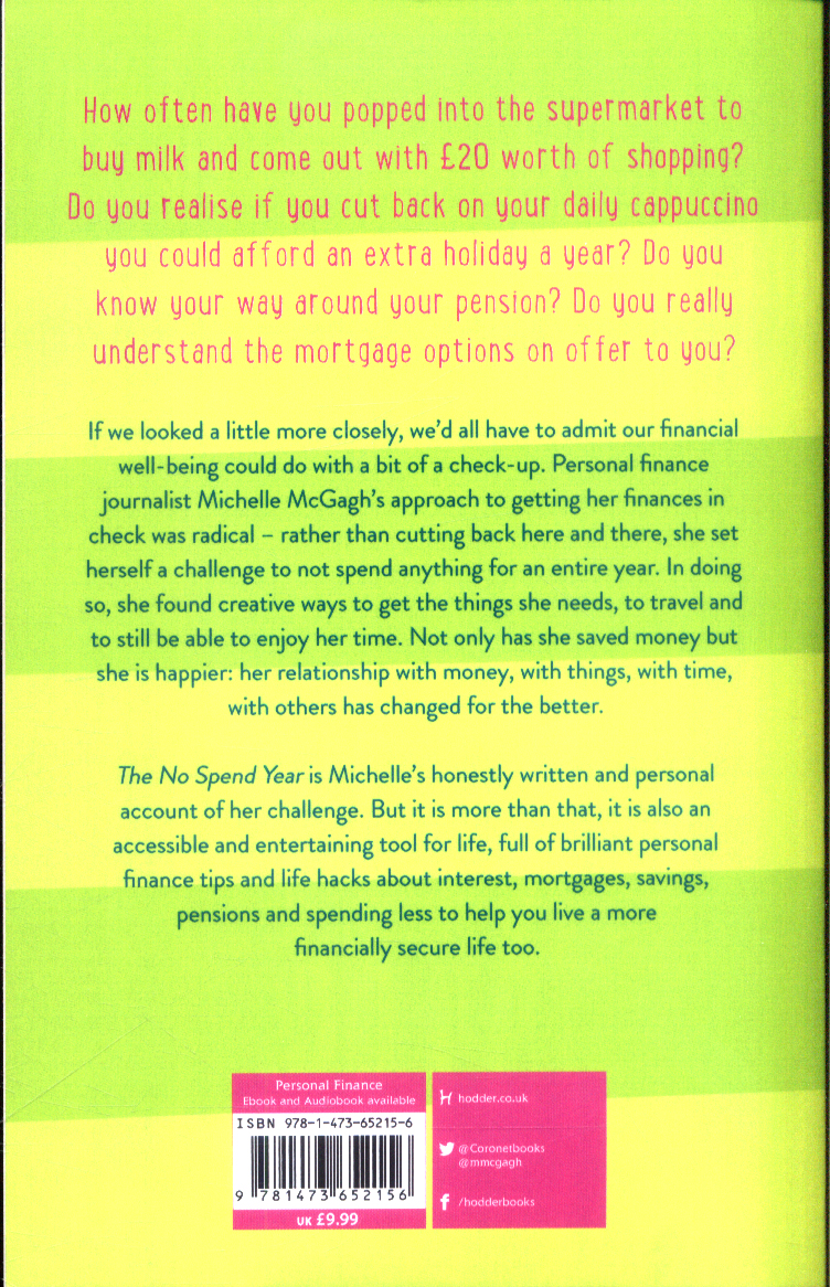 The no spend year : little ways to save a lot of money by McGagh