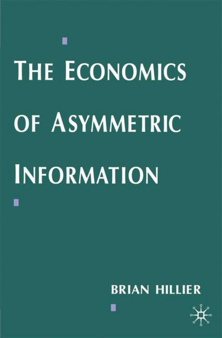 ASYMMETRIC INFORMATION ECONOMICS EPUB DOWNLOAD