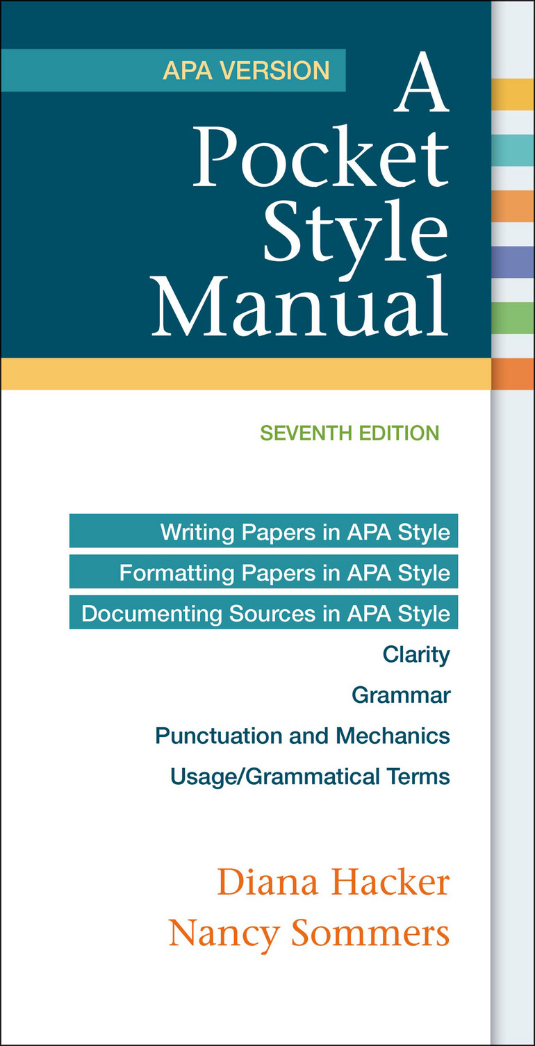 A Pocket Style Manual, APA Version - Nancy Sommers|Diana Hacker - Macmillan  International Higher Education