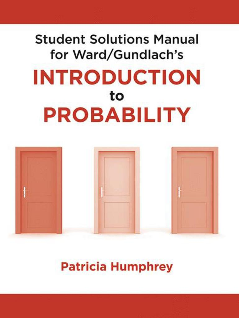 Student Solutions Manual for Introduction to Probability - Ellen  Gundlach|Mark Ward - Macmillan International Higher Education
