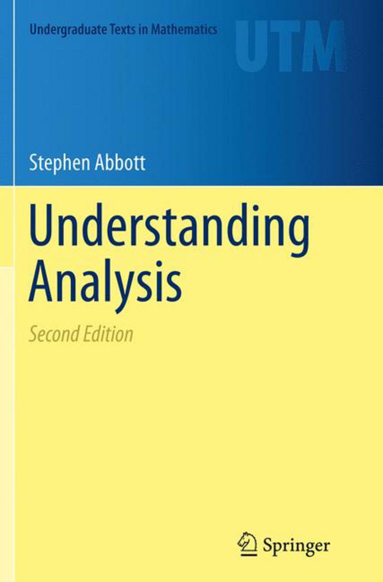 Understanding Analysis - Stephen Abbott - Macmillan International Higher  Education