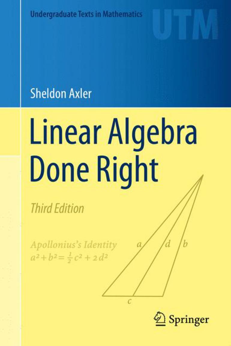 Linear Algebra Done Right Sheldon Axler Macmillan