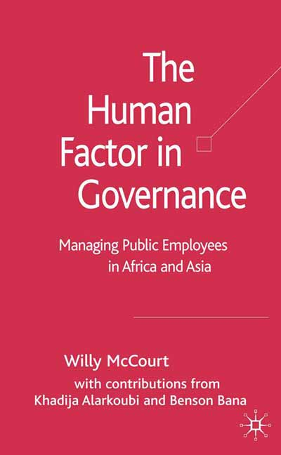 The Human Factor in Governance