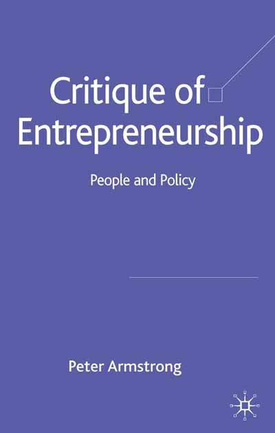 Critique of Entrepreneurship