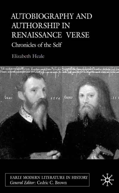 Autobiography and Authorship in Renaissance Verse