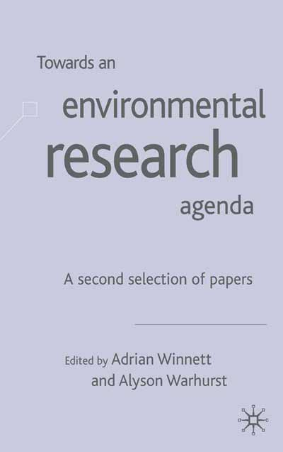 Towards an Environment Research Agenda