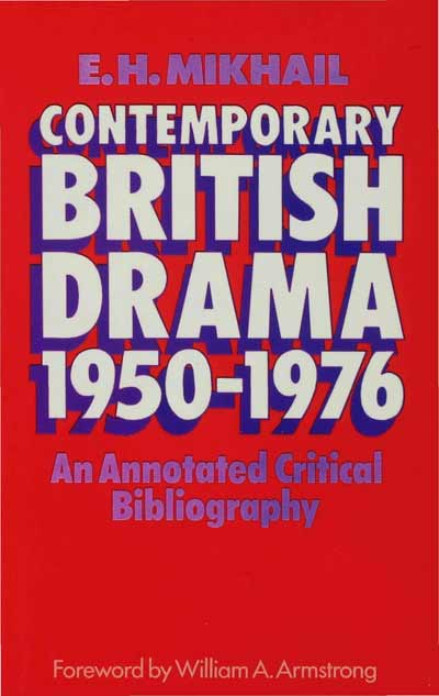 Contemporary British Drama, 1950-1976