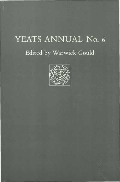 Yeats Annual No 6