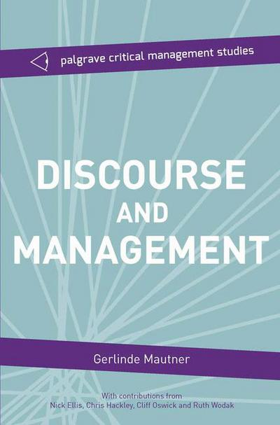 Discourse and Management