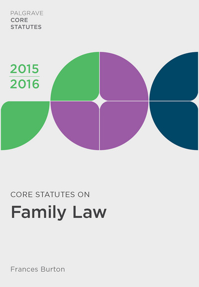 Core Statutes on Family Law 2015-16