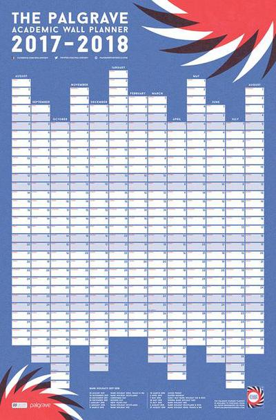 The Palgrave Academic Wall Planner 2017-18