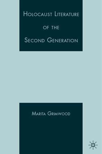 Holocaust Literature of the Second Generation