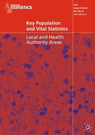 Key Population and Vital Statistics (2003)