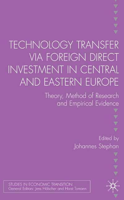 Technology Transfer via Foreign Direct Investment in Central and Eastern Europe