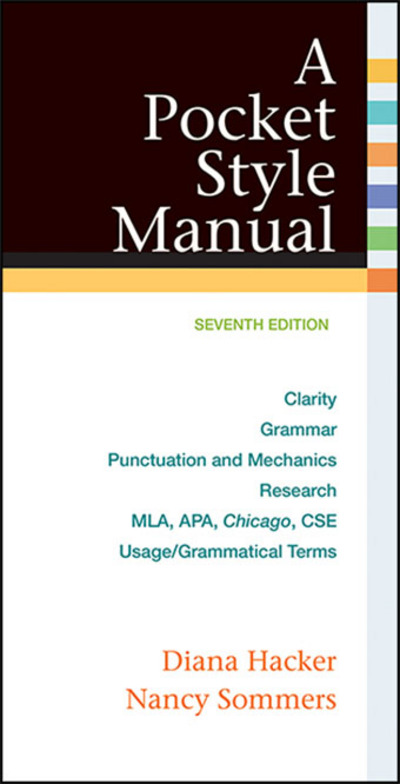 A Pocket Style Manual, with 2016 MLA Update